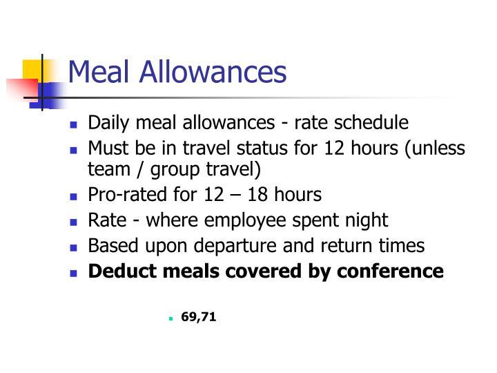 Meal Allowances