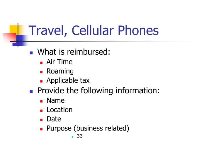 Travel, Cellular Phones