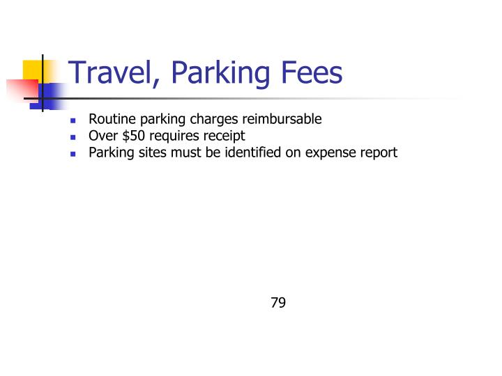 Travel, Parking Fees
