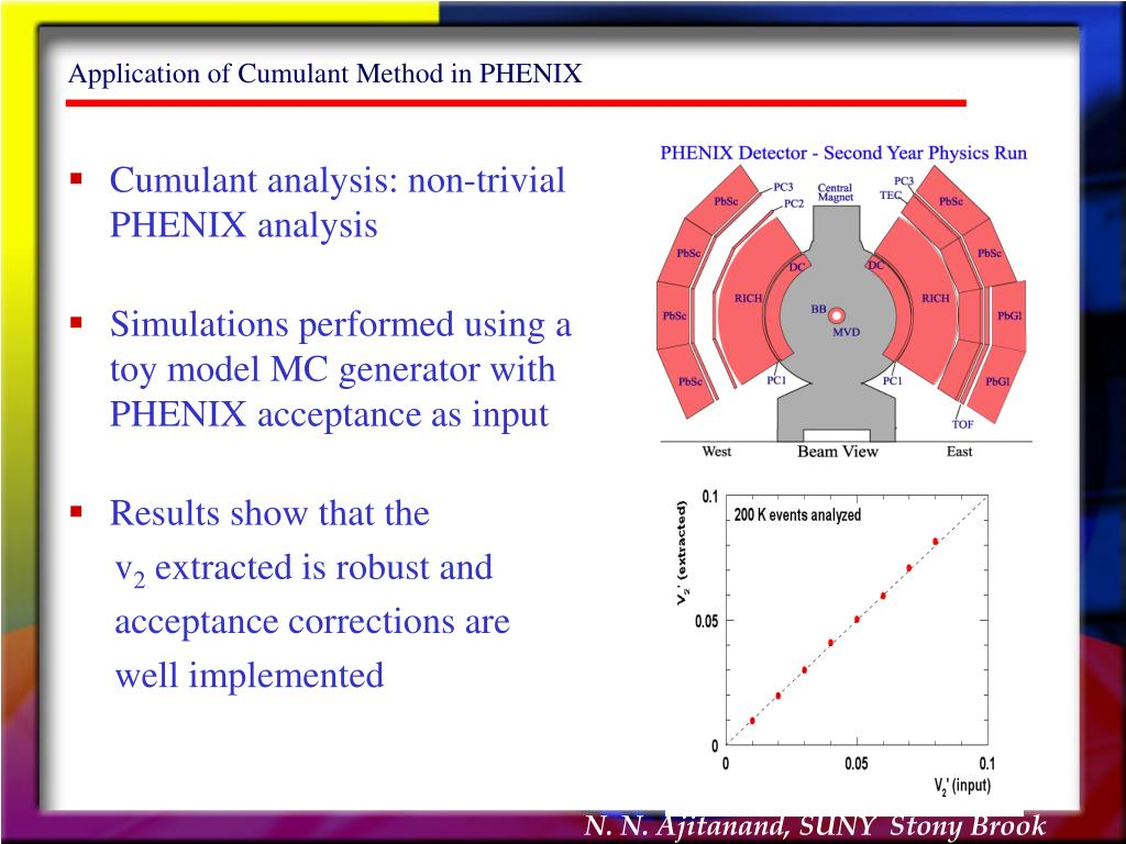 Application of Cumulant Method in PHENIX