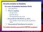 test of de convolution via simulations