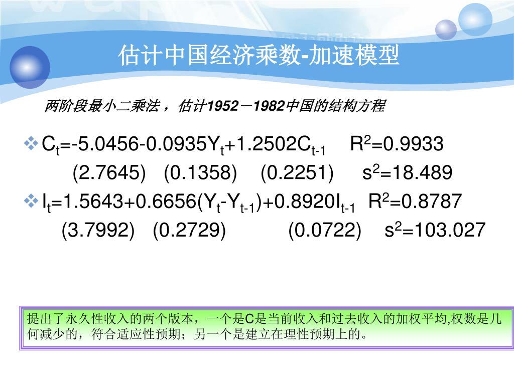 估计中国经济乘数