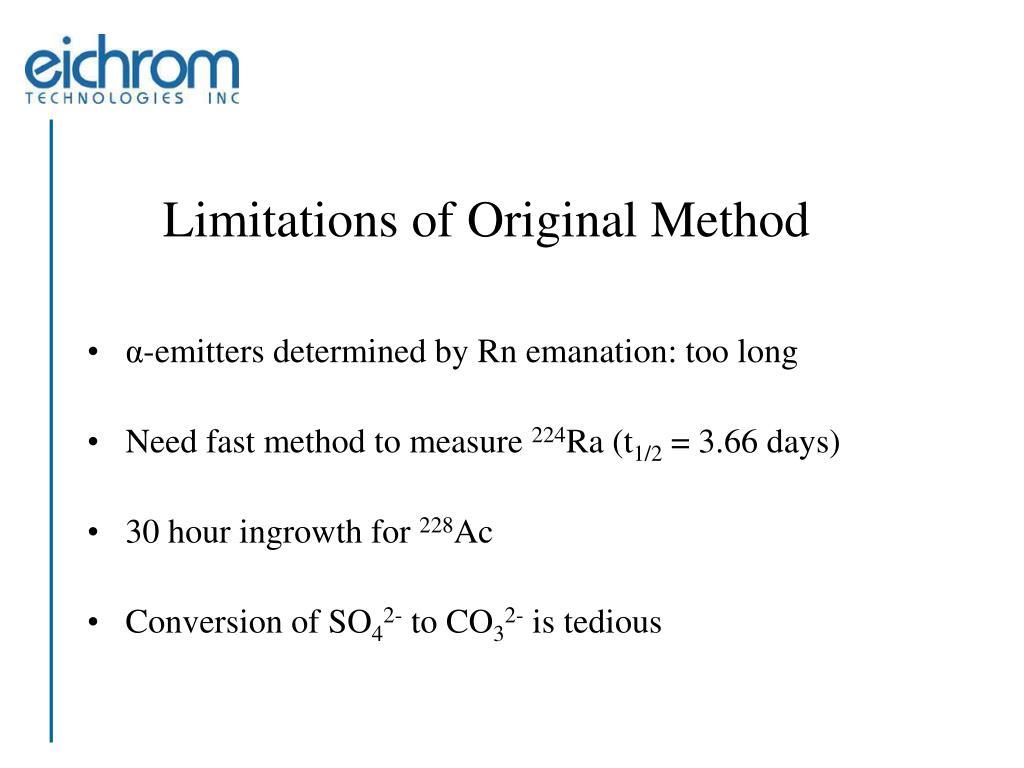 Limitations of Original Method