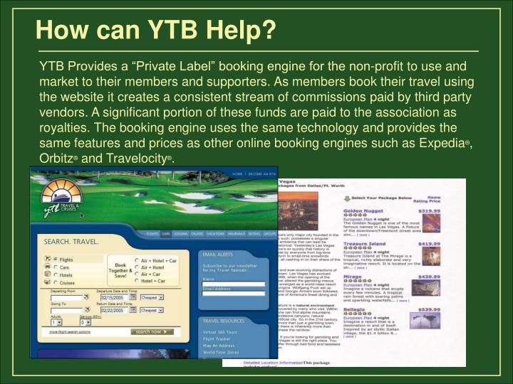 How can YTB Help?