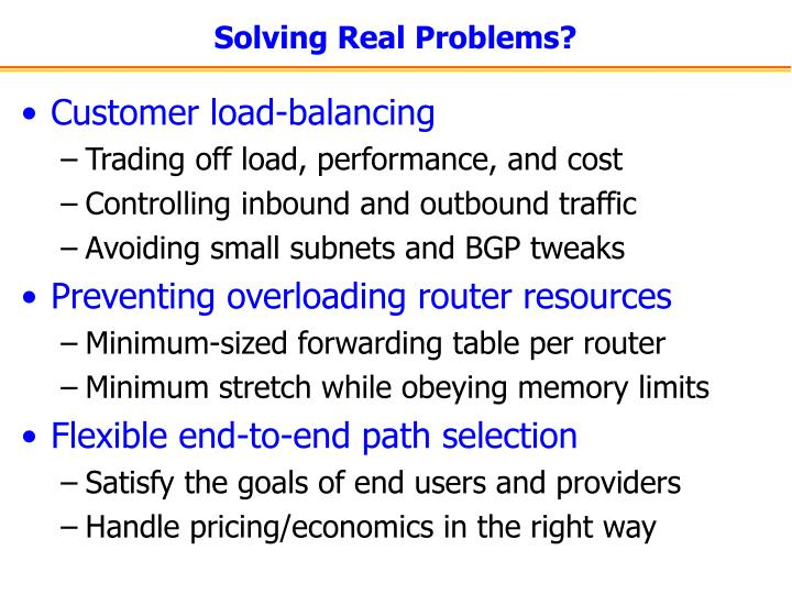 Solving Real Problems?