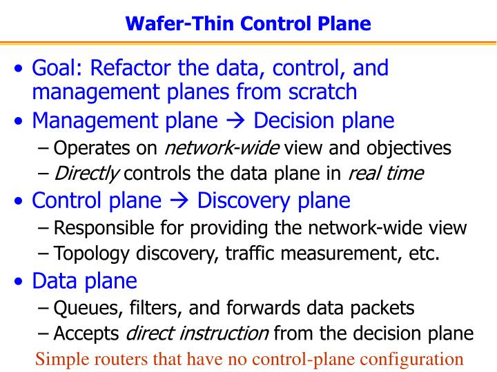 Wafer-Thin Control Plane