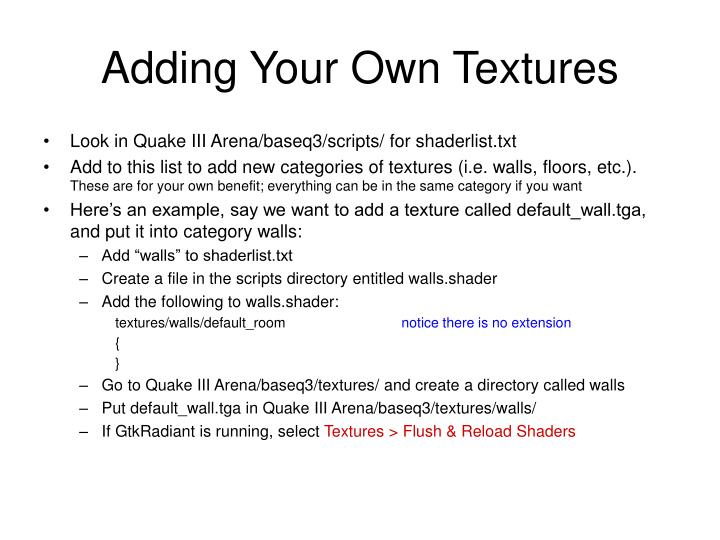 Adding Your Own Textures