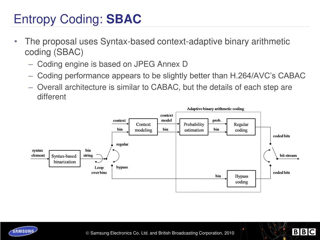 Entropy Coding:
