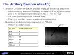 intra arbitrary direction intra adi