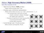 motion high accuracy motion ham