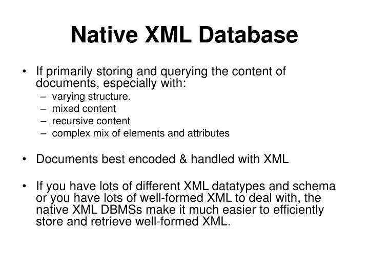 Native xml database l.jpg