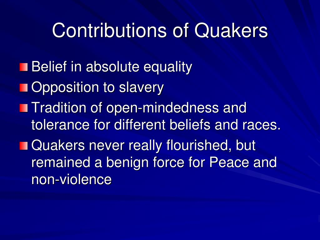 Contributions of Quakers
