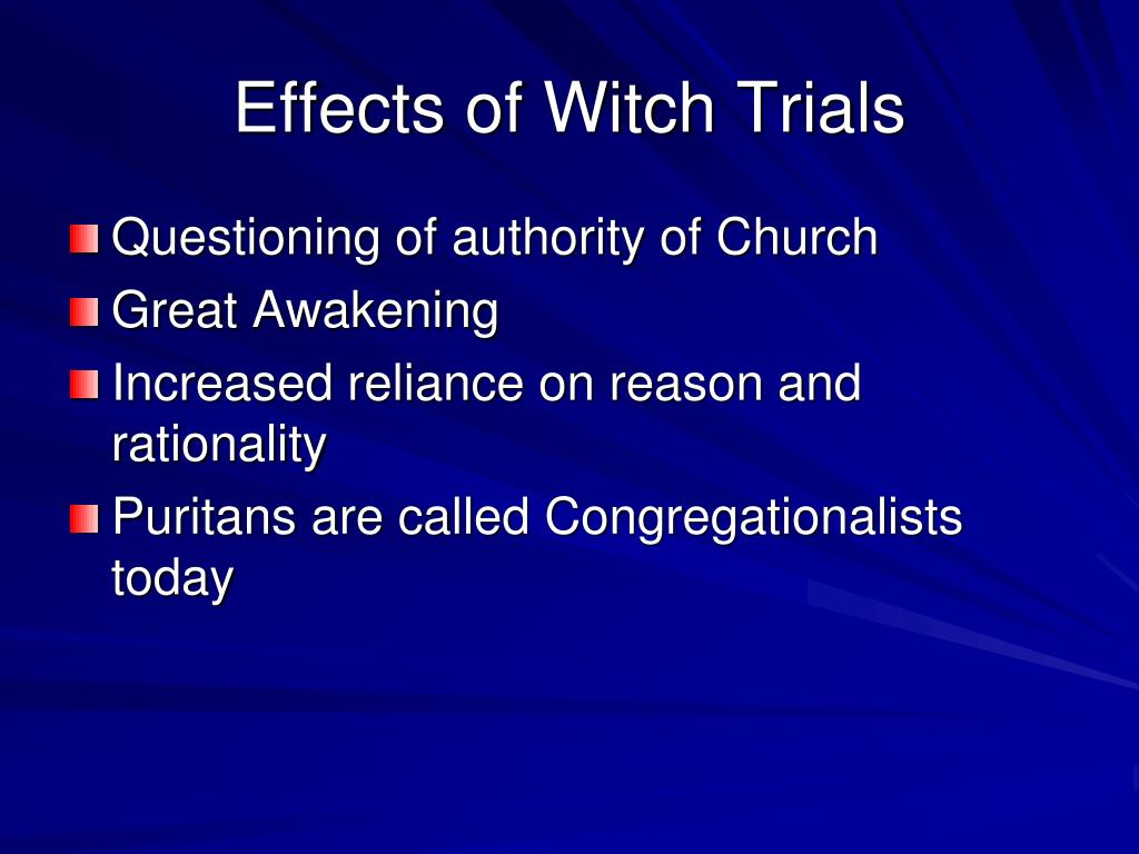 Effects of Witch Trials