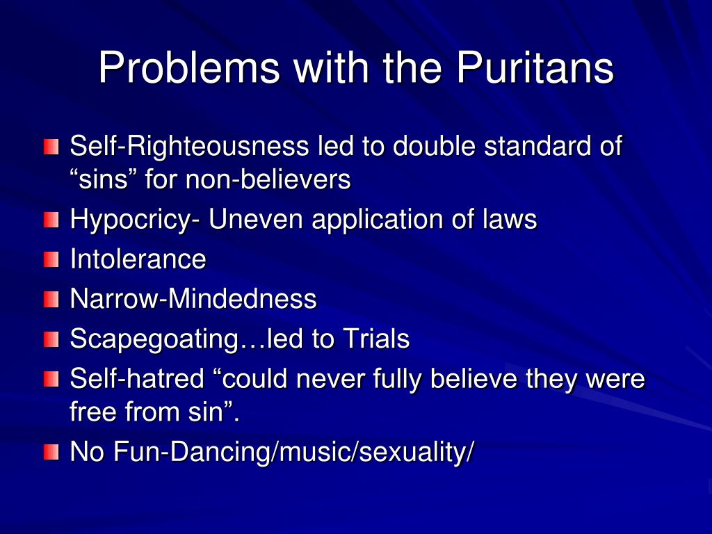 Problems with the Puritans
