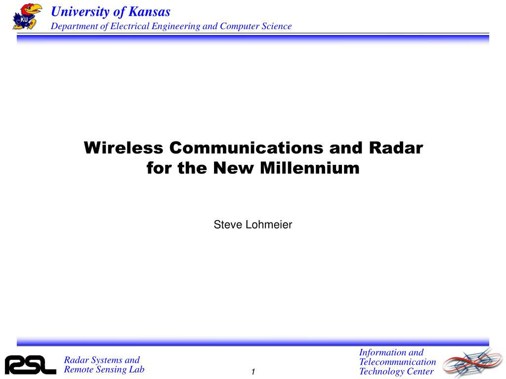 Wireless Communications and Radar for the New Millennium