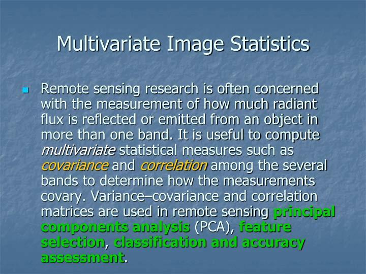 Multivariate Image Statistics