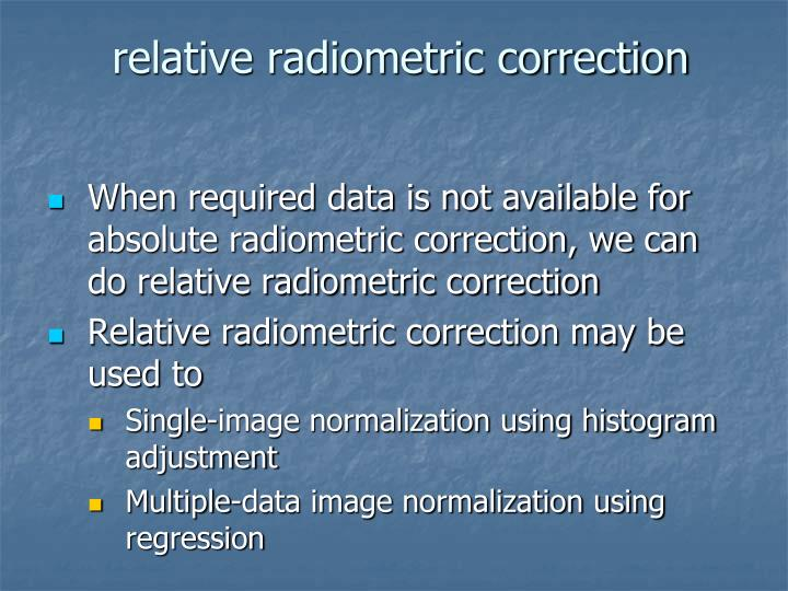 relative radiometric correction