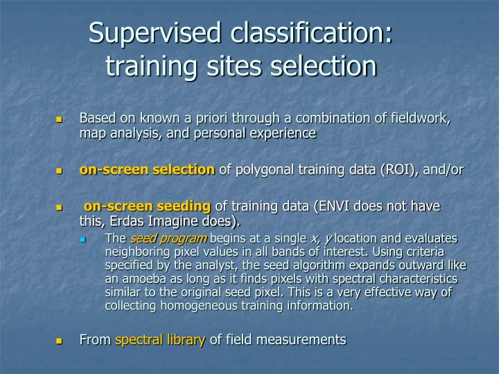 Supervised classification: