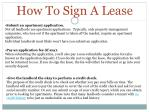 how to sign a lease
