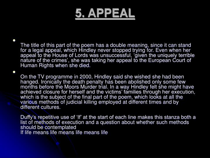 5. APPEAL