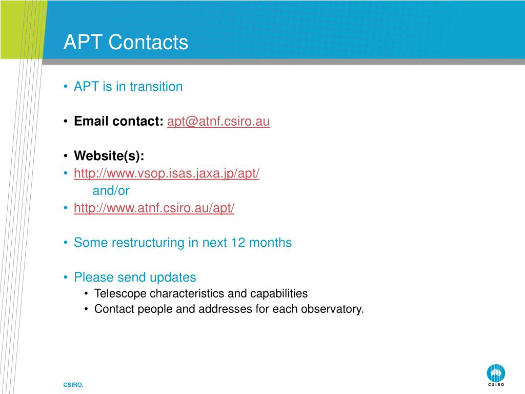 APT Contacts