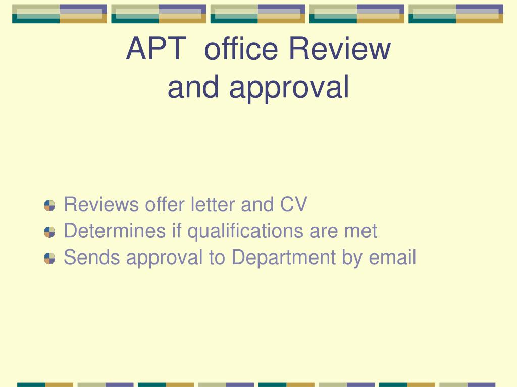 APT  office Review