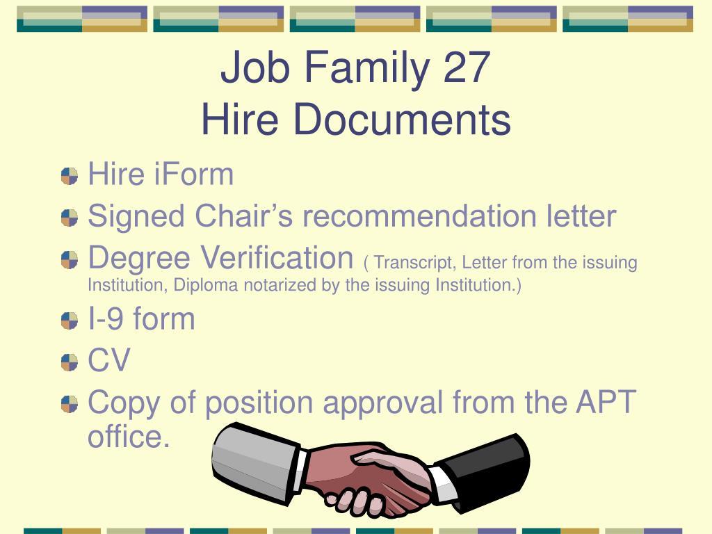 Job Family 27