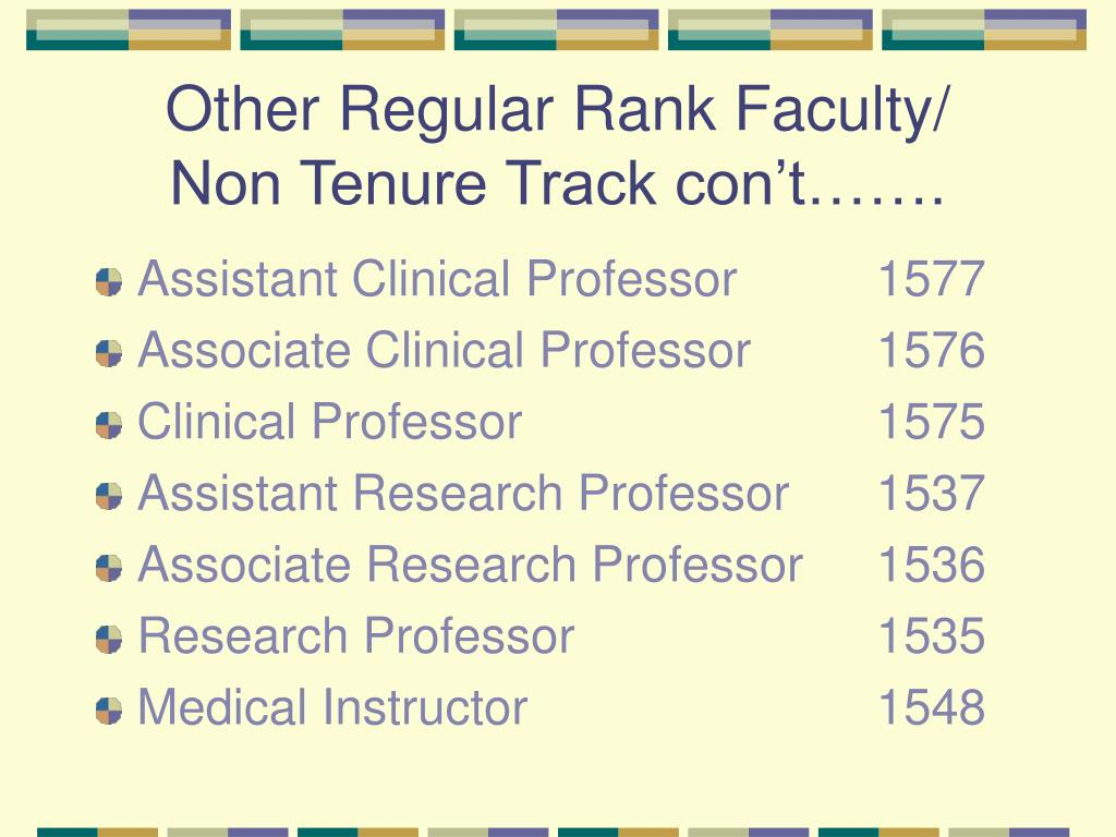 Other Regular Rank Faculty/