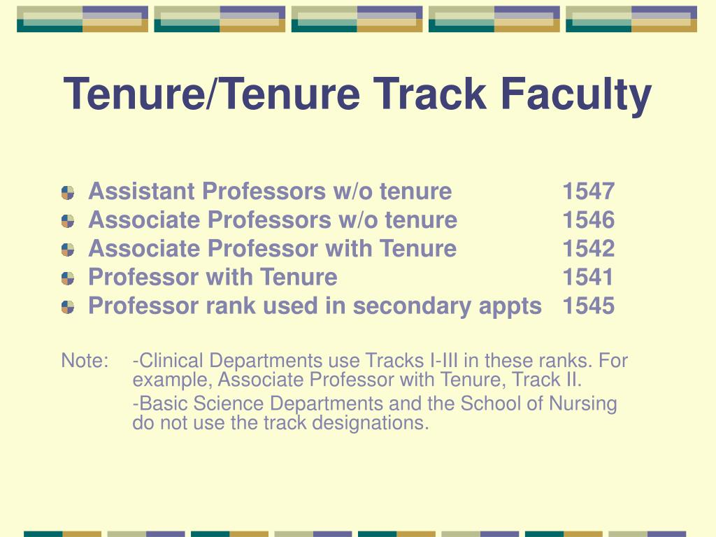 Tenure/Tenure Track Faculty
