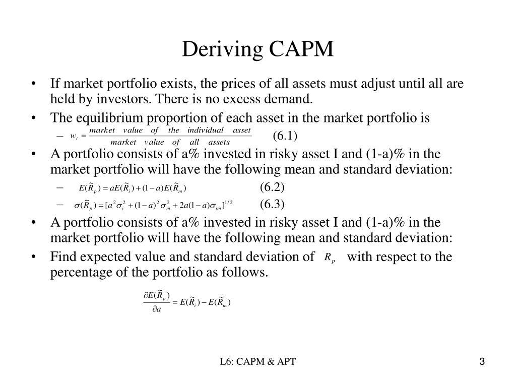 Deriving CAPM