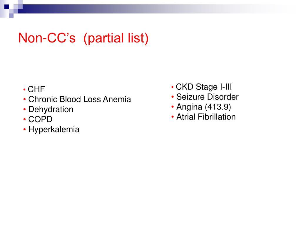 Non-CC's  (partial list)