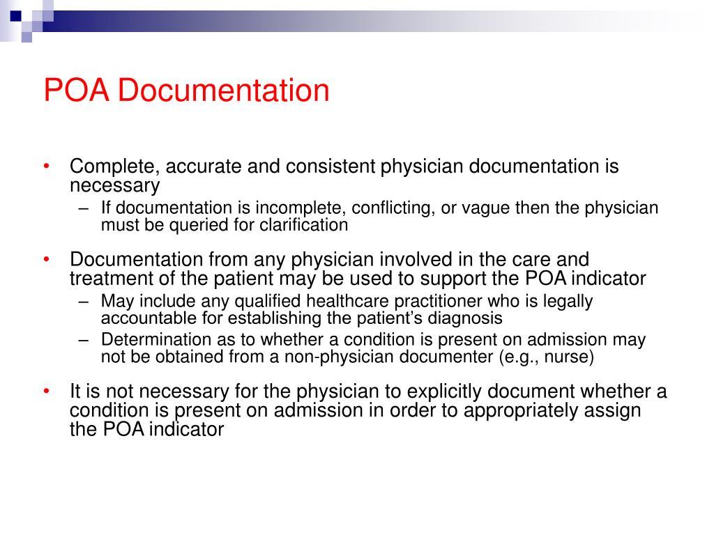 POA Documentation