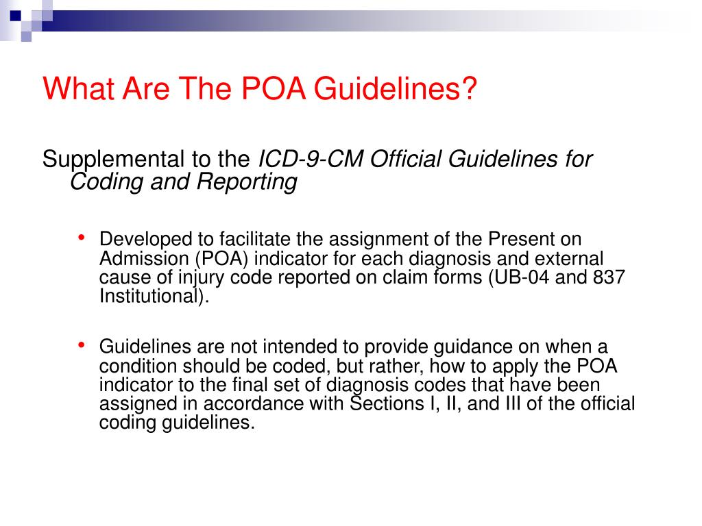 What Are The POA Guidelines?