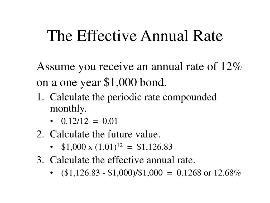 What is the Effective Annual Rate?