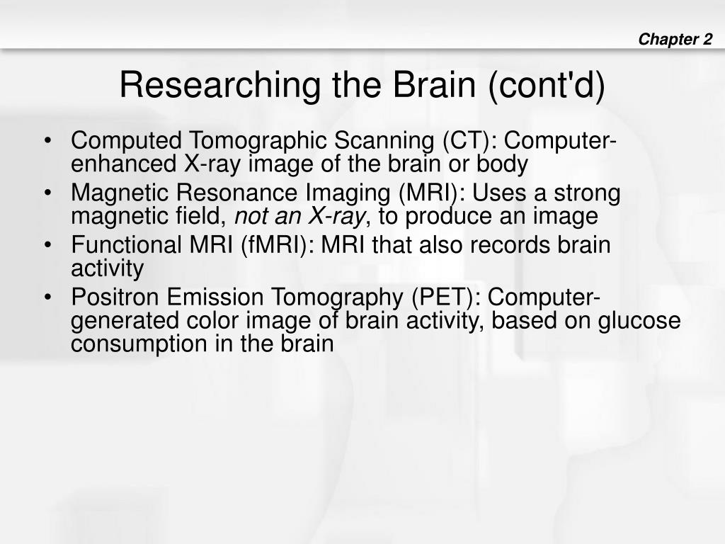 Researching the Brain (cont'd)
