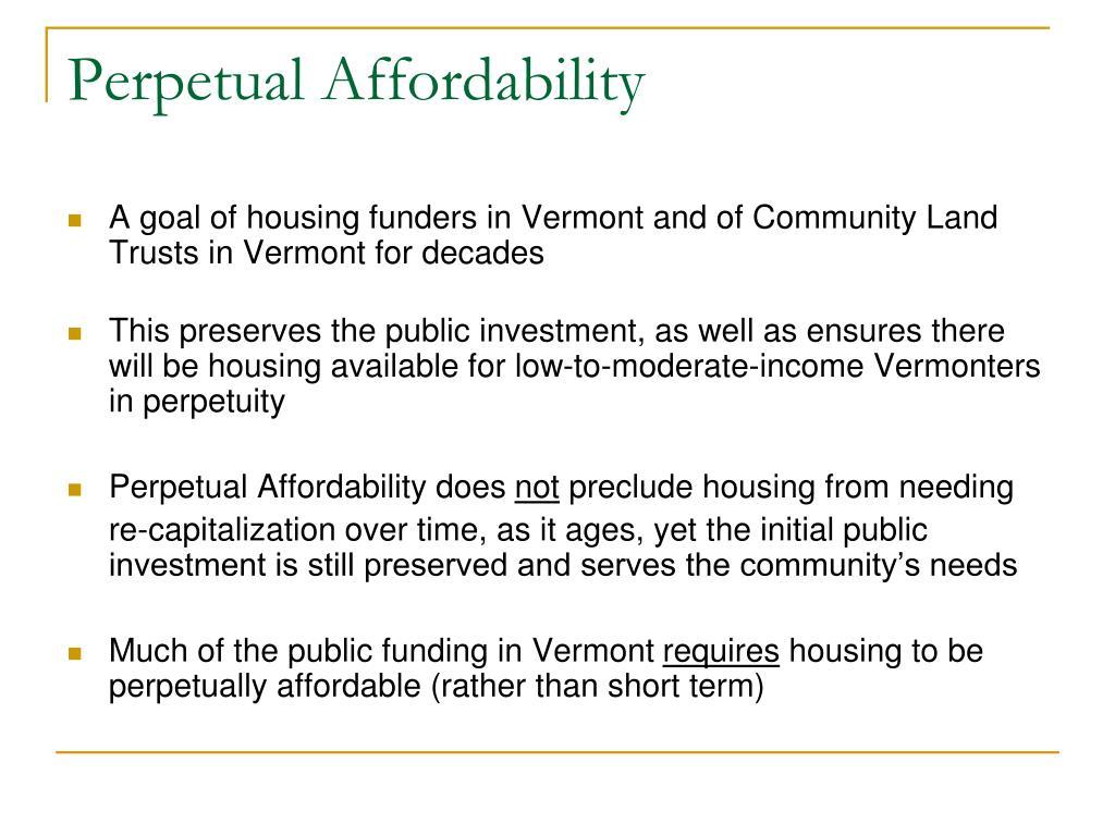 Perpetual Affordability