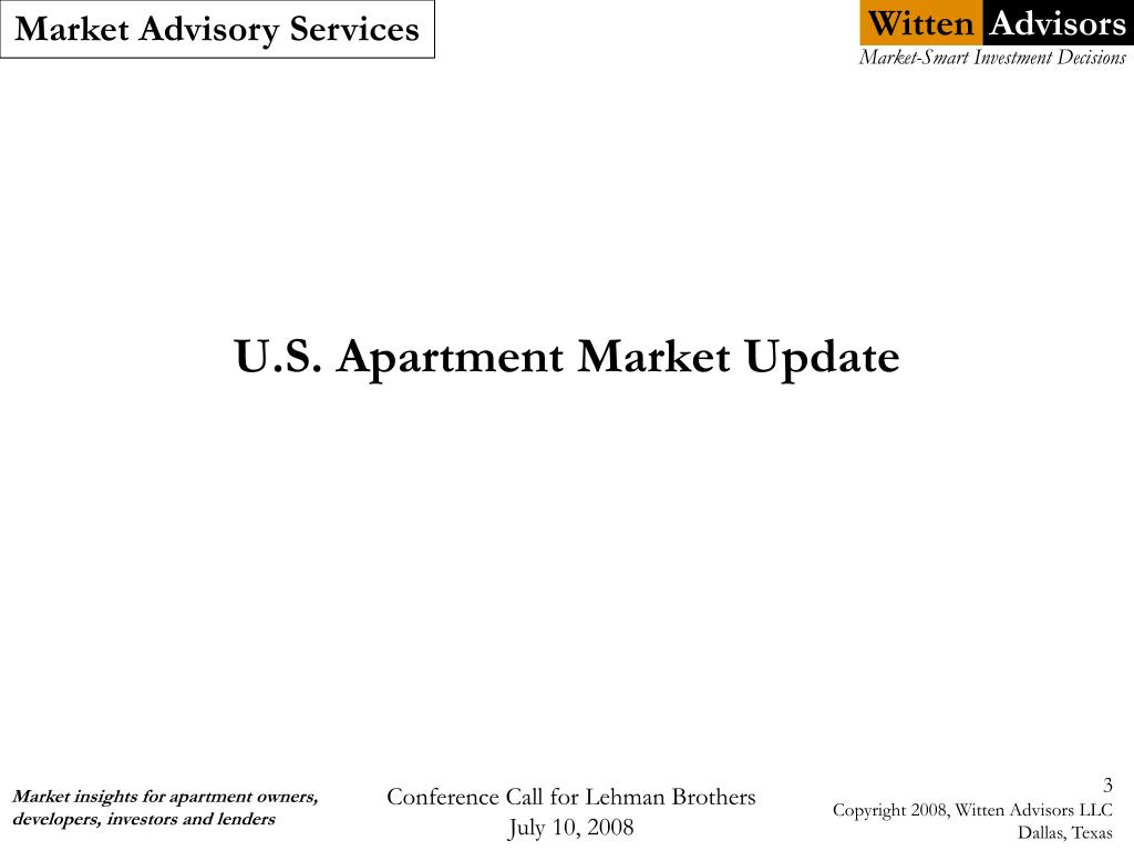 U.S. Apartment Market Update