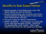 benefits to real estate partner