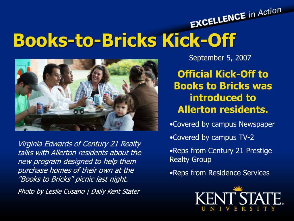 Books-to-Bricks Kick-Off