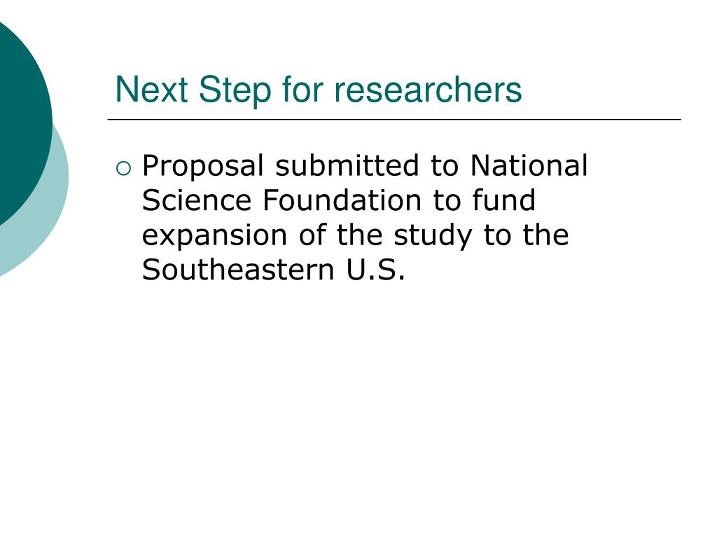 Next Step for researchers