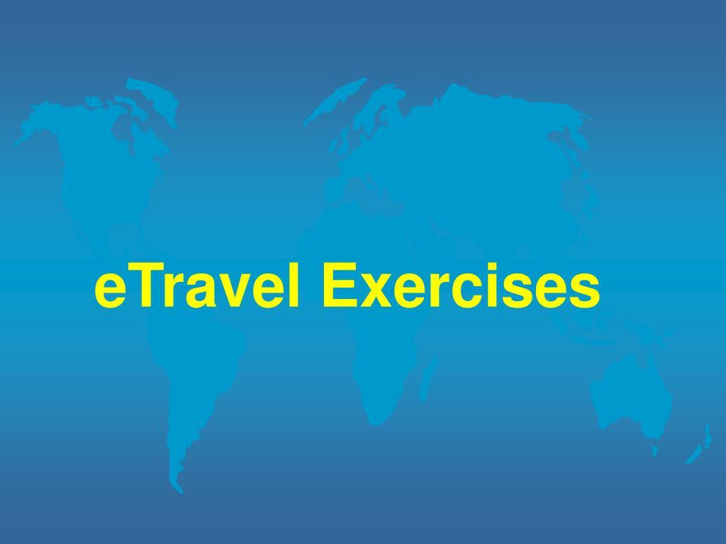 eTravel Exercises