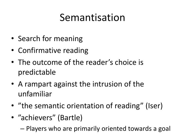 Semantisation