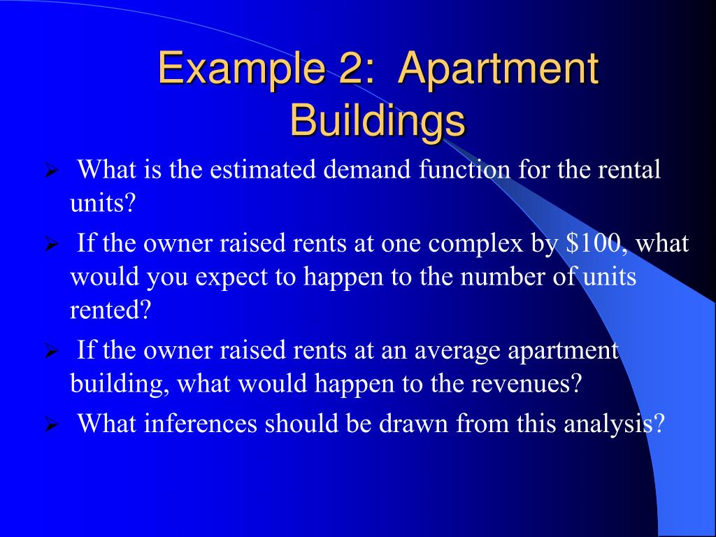 Example 2:  Apartment Buildings