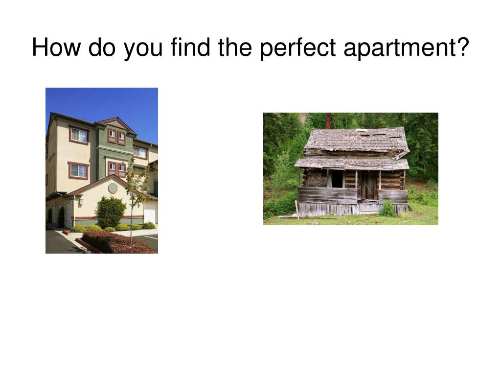 How do you find the perfect apartment?