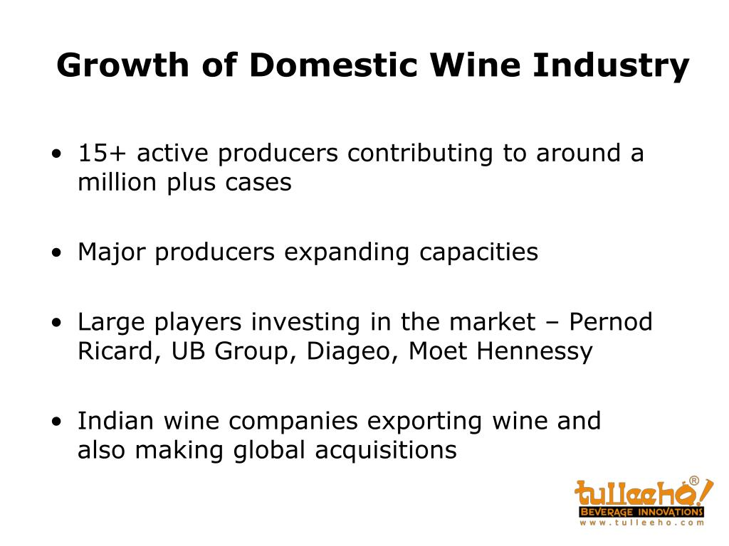 Growth of Domestic Wine Industry