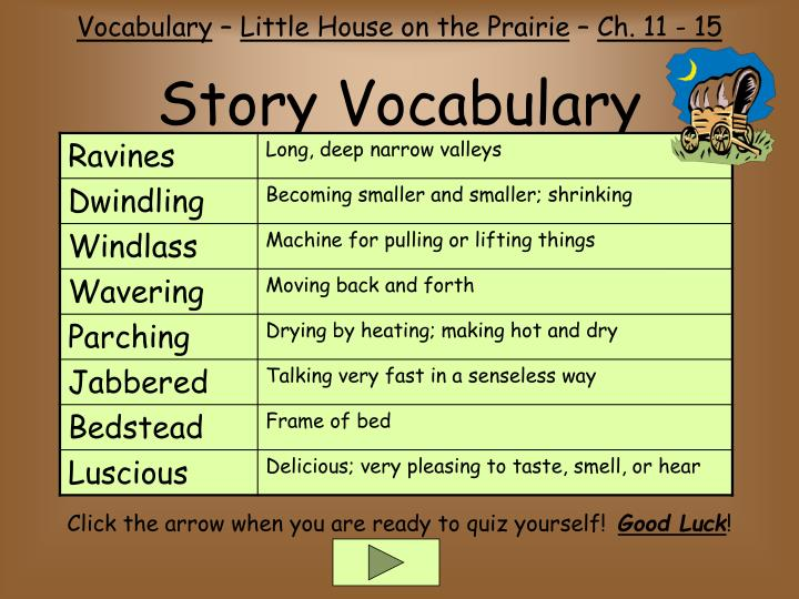 Story vocabulary