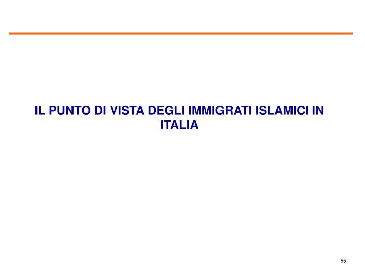 IL PUNTO DI VISTA DEGLI IMMIGRATI ISLAMICI IN ITALIA