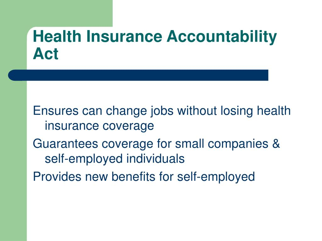 Health Insurance Accountability Act