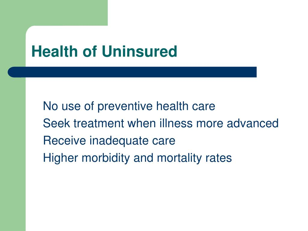 Health of Uninsured