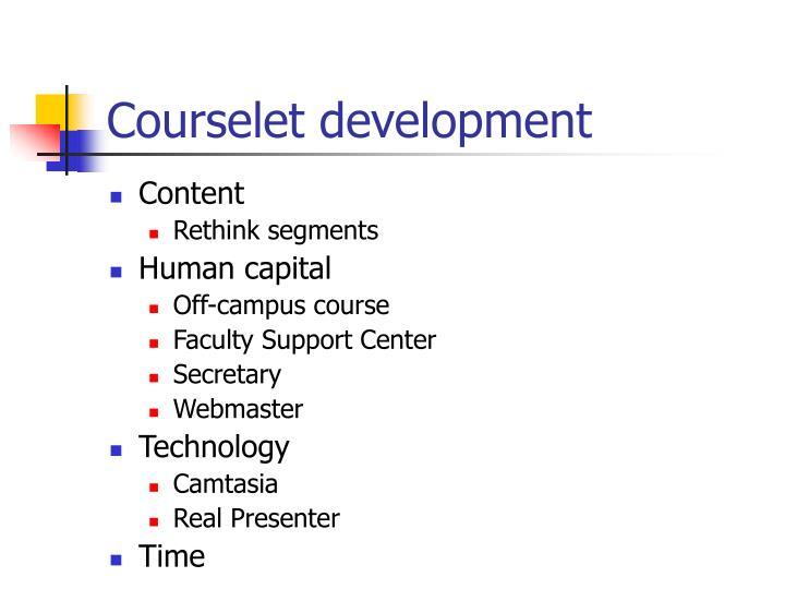 Courselet development